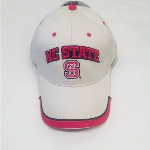 NC State structured adjustable hat.